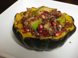 My First Stuffed Squash — Happy Dance!