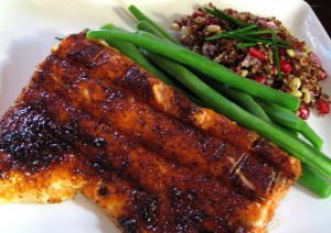 Healthy Grilled Salmon with Maple Glaze